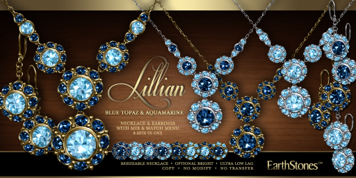 Lillian Collection - Blue Topaz & Aquamarine