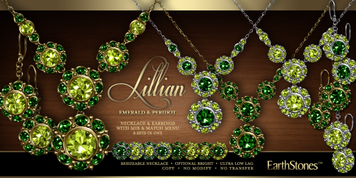 Lillian Collection - Emerald & Peridot