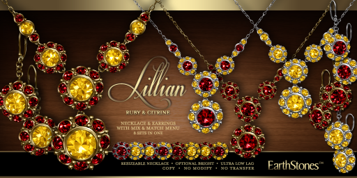 Lillian Collection - Ruby & Citrine