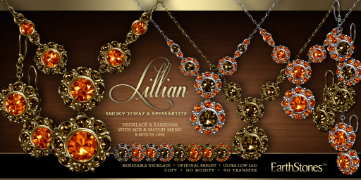 Lillian Collection - Smoky Topaz & Spessartite