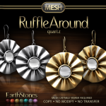 Ruffle Around Earrings - Quartz