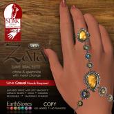 Zaia Slave Bracelets - Casual_CitrineSpectrolite