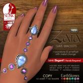 Zaia Slave Bracelets - Elegant1_MoonstoneAmethyst