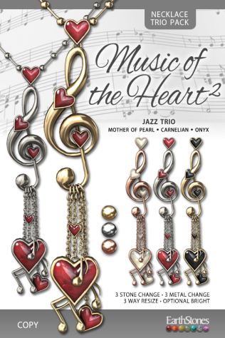 EarthStones Music of the Heart II Necklace - _JazzTrio