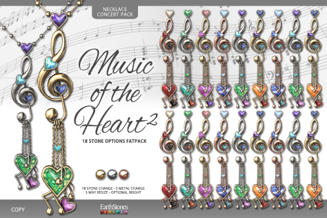 EarthStones Music of the Heart II Necklace - Concert Pack