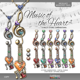 EarthStones Music of the Heart II Necklace - MusicFest