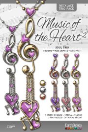 EarthStones Music of the Heart II Necklace - SoulTrio